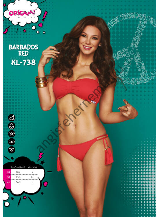 ORIGAMI BIKINI Barbados Red KL-738