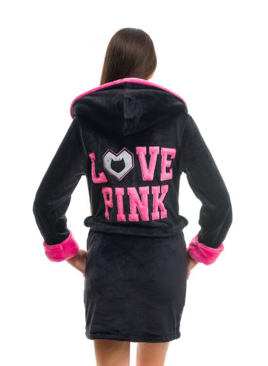 POPPY DK Love Pink köntös fekete-pink
